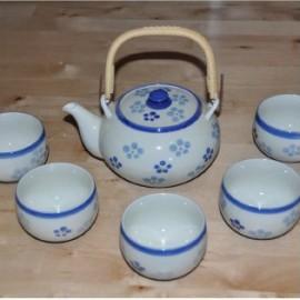 Service à thé japonais bleu /5pièces