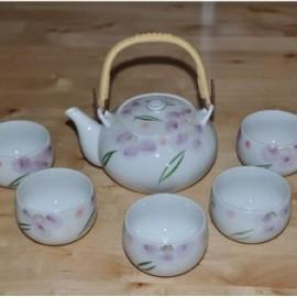 Service à thé japonais rose /5pièces