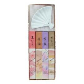 Boîte dorée avec 4 encens japonais