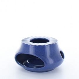 Chauffe theière bleu
