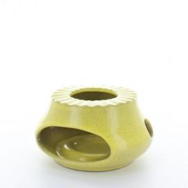 Chauffe theière jaune