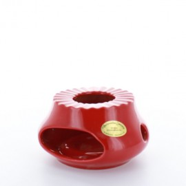 Chauffe theière rouge vif